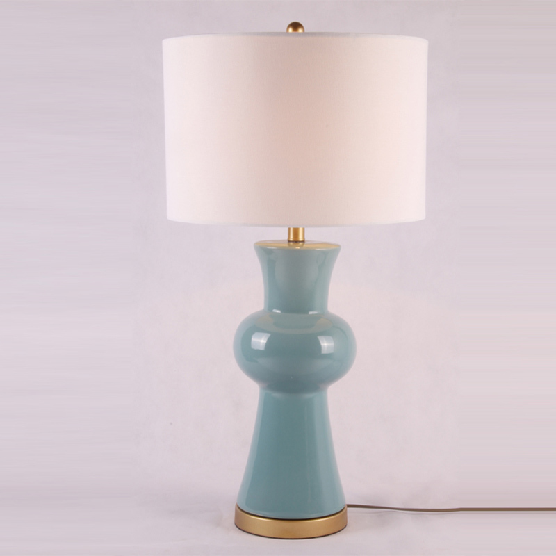 Modern Chinese ceramic table lamp luxury decoration creative light study the living room bedroom bedside desk lamps ZA117614