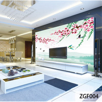 QINGCHUN Custom Print Fabric Textile Wallcoverings For Walls Cloth Seamless Matt Silk For Living Room Backdrop