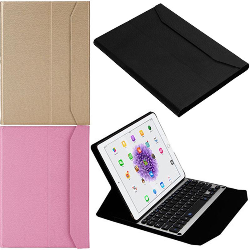 ФОТО Ultrathin Folio PU Case Stand PC Cover With Aluminum Wireless Bluetooth Keyboard For Apple iPad Pro 9.7  Q99 XXM