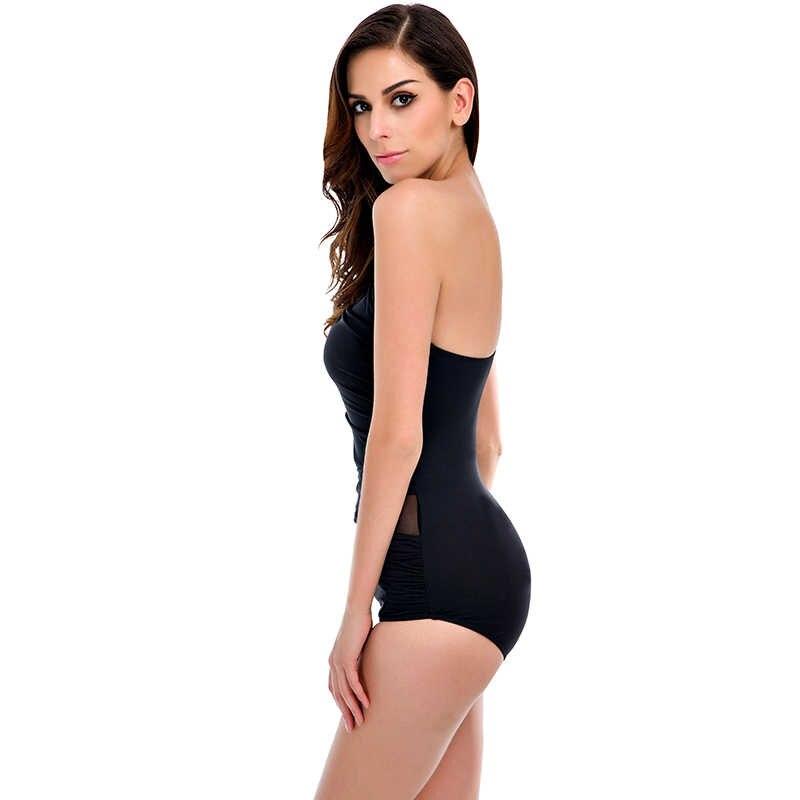 debe6c9c8c17 ... Sexy One Piece Swimsuit Women 2018 Summer Beachwear Mesh One Shoulder  Swimwear Bathing Suits Bodysuit Monokini ...