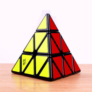 QIYI Pyramidcube Magic Speed Cube sticker less Puzzle Twist Pyramid Cubes Educational Toys For Children Kids cube Gifts mo yue guo guan yue xiao 3 3 3 black magic cubes puzzle speed rubiks cube educational toys gifts for kids children