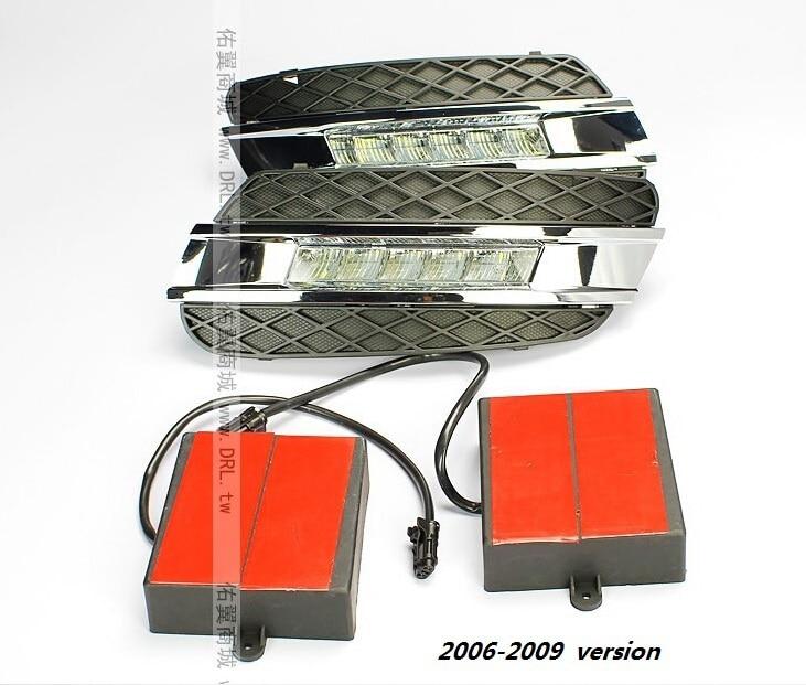 Free shipping by EMS LED daytime running light for Mercedes Benz W164 ML350 ML280 ML300 ML320 ML500 2006-09, 2010-11 LED DRL