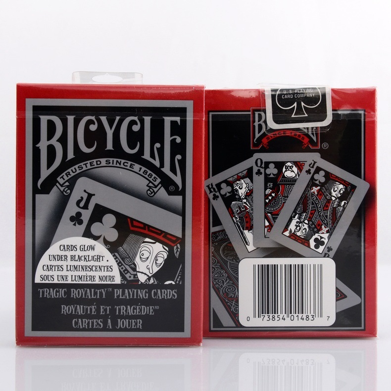 1pcs Bicycle Tragic Royalty Deck Magic Card Playing Card Poker Close Up Stage Magic Tricks for Professional Magician Free Ship