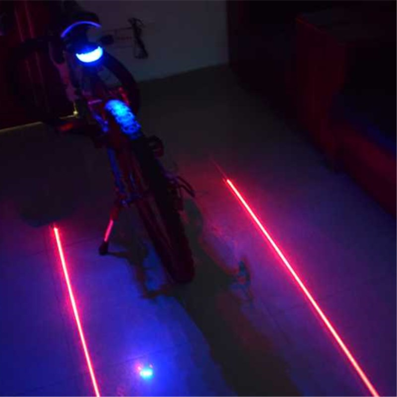 WasaFire Mountain Bike Light Safety Warning Rear Light 5 LED+2 Laser Night Bicycle Tail Light Bicycle Taillamp Cycling Lights