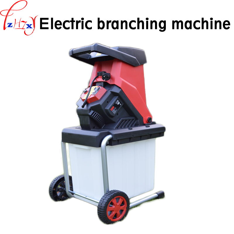 Desktop electric breaking machine 2500W high power electric tree branch crusher electric pulverizer garden tool 220V 1PC image
