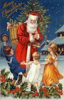 Vinylbds Fotografie Achtergrond Christmas Santa Geschenken Aan Kinderen 5X7Ft(1.5X2.2M) Achtergrond Zj