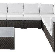 Мебель для гостиной уличная плетеная патио сад угловой секционный диван набор