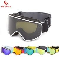 Ski Goggles 2 in 1 with Magnetic Dual use Lens Night Anti fog UV400 Snowboard Men Skiing Goggles Women Ski Eyewear Glasses