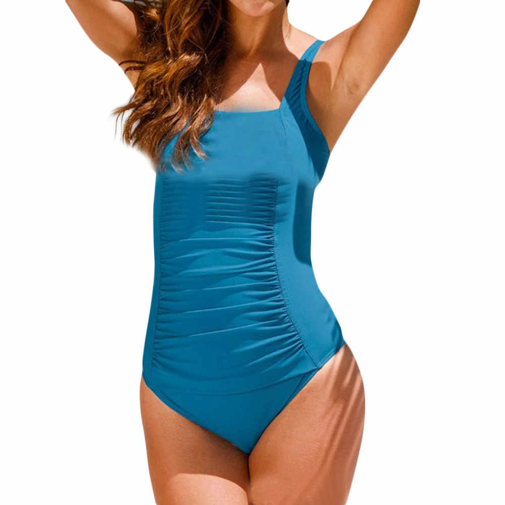 Maillots de bain femmes une pièce maillot de bain Push Up rembourré Bikini grande taille maillots de bain maillot de bain Monoki trikini chaud 2019 # G10