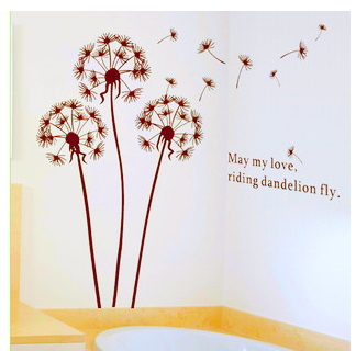 130 X 110cm Dandelion Wall Stickers Decorative Removable Washable Wall  Sticker For Dining Room/ Bedroom