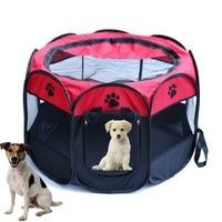 المحمولة للطي خيمة بيت قفص الكلب القط السرير خيمة إمدادات روضة جرو الكلب سياج في عملية سهلة مثمن
