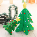 33cm Light music Christmas tree Plush Toy Luminous Musical Plush Toys for Xmas Gifts