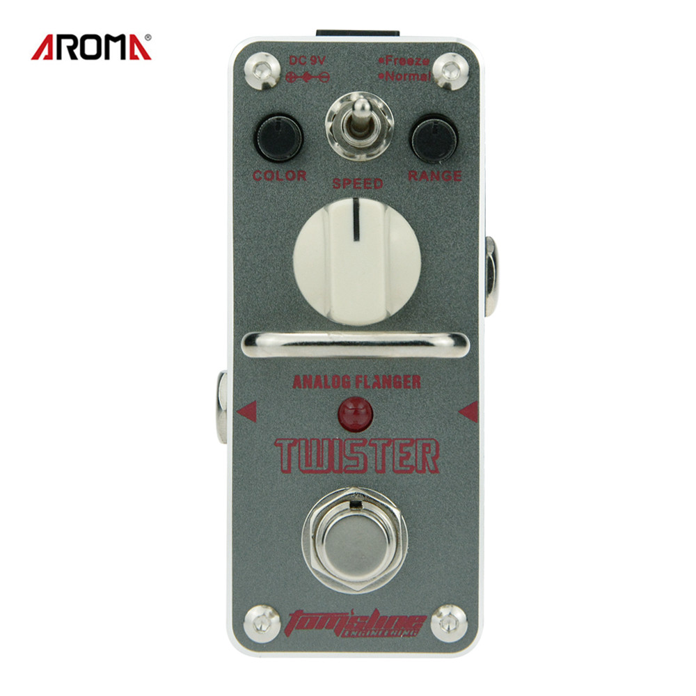 AROMA ATR-3 Guitar Effect Pedal Twister Analog Flanger Electric Guitar Effect Pedal Mini Single Effect with True Bypass aroma aov 3 ocean verb digital reverb electric guitar effect pedal mini single effect with true bypass guitar parts