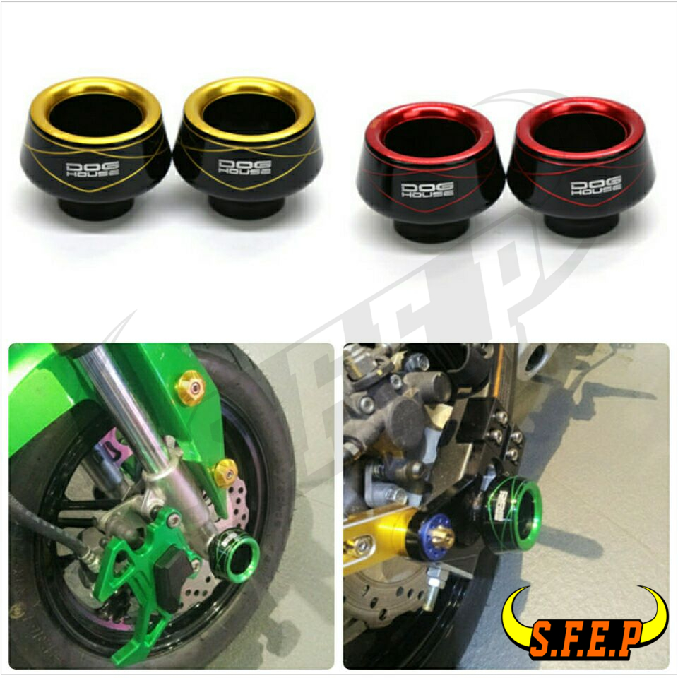 Universal Motorcycle Front Rear Fork Wheel Fall Protection Frame Slider Anti Crash Protector For Honda GROM MSX125 MSX125SF