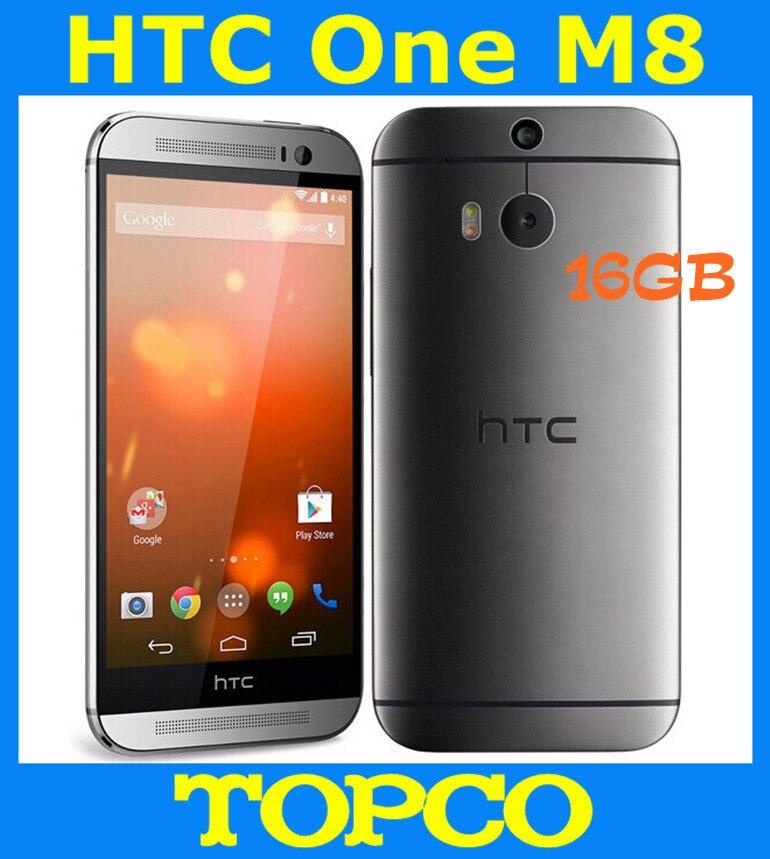 """Цена за Оригинальный HTC One M8 16 ГБ Разблокирована GSM 3 Г и 4 Г Android четырехъядерный процессор ОЗУ 2 ГБ мобильный Телефон 5.0 """"WIFI GPS 4MP 3 камеры dropshipping"""
