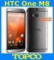 """HTC One M8 16 GB Desbloqueado originais GSM 3G & 4G Android Quad-core RAM 2 GB Telefone móvel 5.0 """"WIFI GPS Dupla 4MP 3 câmeras dropshipping"""