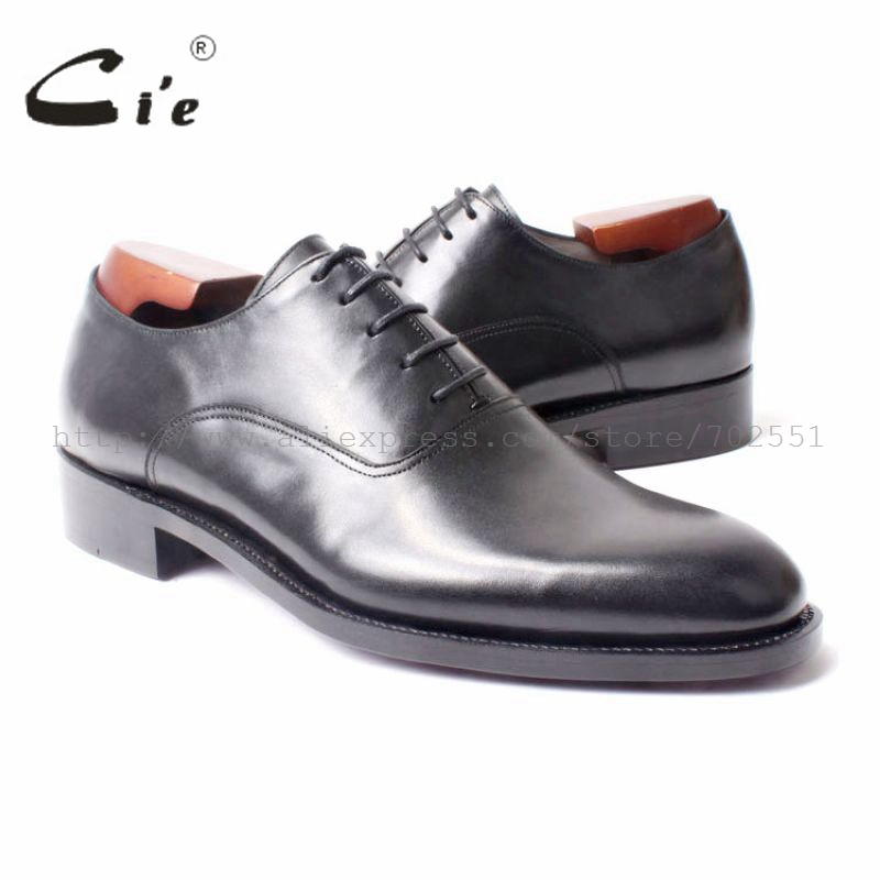 cie Free Shipping Bespoke Handmade men's Round Plan Toe Black Oxford Goodyear Craft Shoe Color Can Be Any What You Prefer No.295 полироль пластика goodyear атлантическая свежесть матовый аэрозоль 400 мл