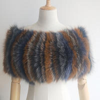 Real Fox Fur Poncho Women For 2019 Winter Fashion Genuine Luxury Ladies Fur Shawl Russia Spring Ponchos Warm Neck Scarves