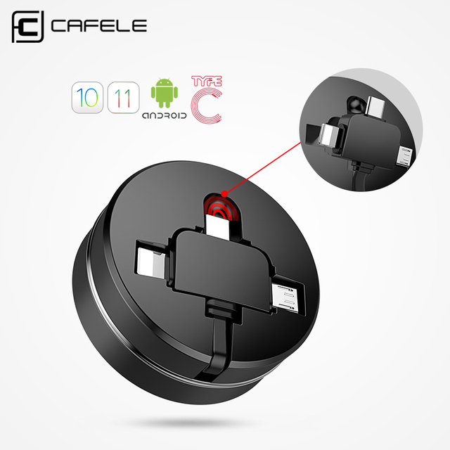 3 in 1 Retractable USB cable 3