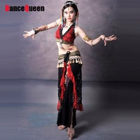 Belly Dancing Clothes Red/White Women Bellydance Lady Bollywood Dance Costumes Embroidery Tribal Indian Dresses Danca Do Ventre