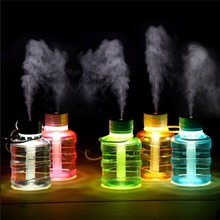 Lovely Cute Mini Bucket Shape USB Humidifier LED Night Light Home Office Car Humidifiers Mist Maker Air Purifier