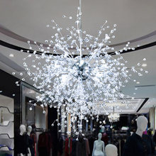 Dandelion Chandeliers Lighting for Dining Room Bedroom Exhibition hall Living Room LED White Light Pendant Hanging Lamp(China)