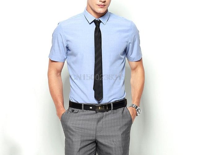 Youzimeihui nova versão de verão branco-colarinho da camisa dos homens macacão curto-de mangas compridas camisas de negócios