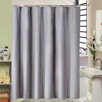Europejski styl nowoczesny szary łazienka zasłona prysznicowa z tkaniny Liner z 12 hakami 71x71 cal wodoodporna i odporna na pleśń zasłona wanny w Zasłony prysznicowe od Dom i ogród na