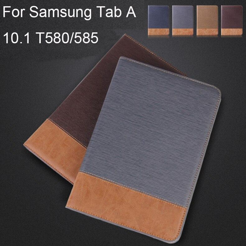 ¡Caliente! Nuevo Flip PU Funda de cuero para Samsung Galaxy Tab A A6 10,1 2016 T585 T580 T580N tableta cubierta