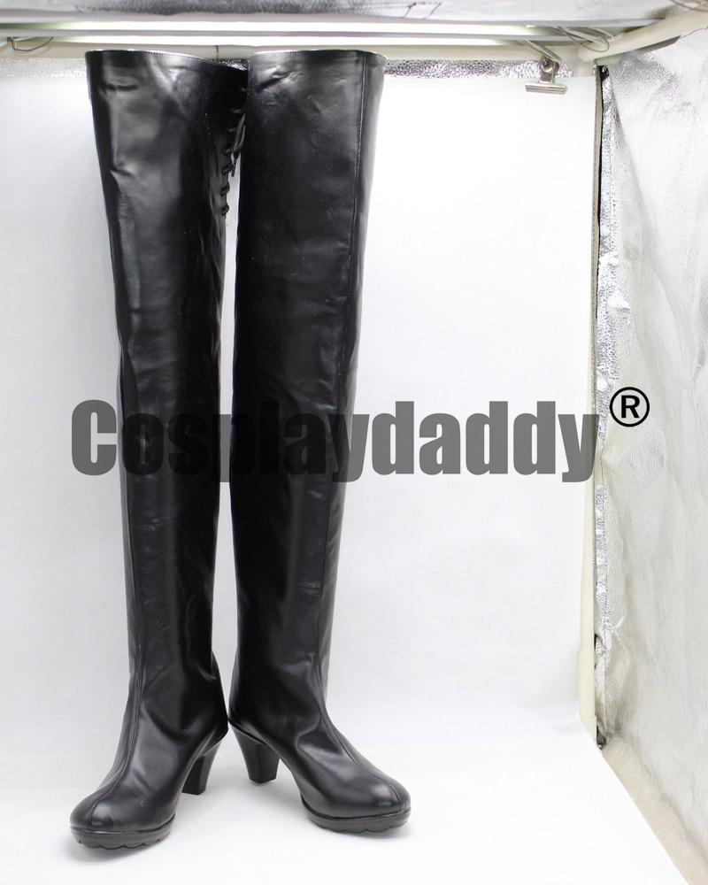 NieR Automata 2B dívky dlouhé černé boty boty X002