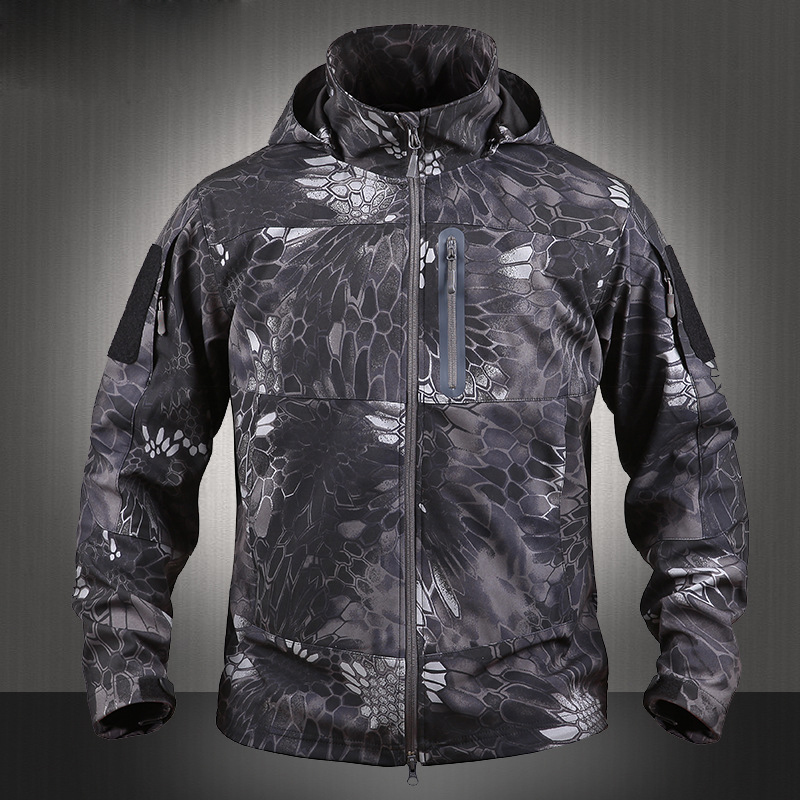 2017 New Winter Lighweight Field Coat Softshell Typhon Tactical Jackets With Hoody Highlander Army Jacket Softshell