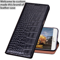 CJ12 Crocodile pattern natural leather flip case for Nokia 6 TA 1000 phone cover for Nokia 6 phone bag free shipping