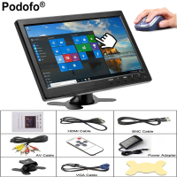 Podofo 10 1 LCD HD Monitor Mini TV Computer Display Color Screen 2 Channel Video Input