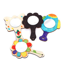 Creative Wooden Mirror Material Package Children DIY Hand-Pa