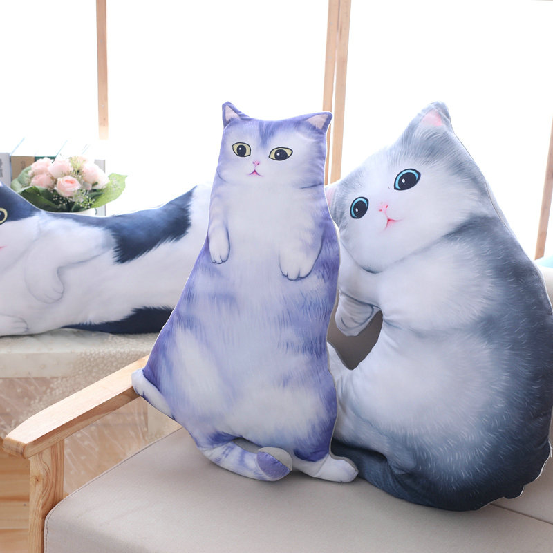 70/100cm Cute Simulated cat doll sleeping baby doll cat pillow plush toys stuffed animals PP Cotton Cushion birthday gift