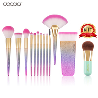 Buy 3 Get 1 Gift Docolor 10PCS Makeup Brushes Set And Fan Brush Contour Brush With