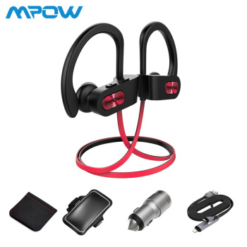 Mpow NEW D3 Wireless Bluetooth 4.1 Earphone+2 ports USB Car Charger+Up to 5.5inch Armband+Micro 8pin 2 in 1 Cable+Carrying Bag