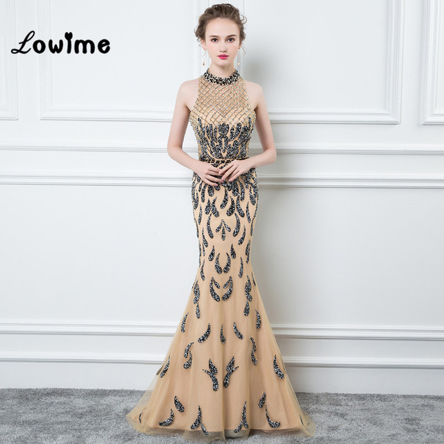 dd6e4eccf31 2018 Couture Diamond Mermaid Evening Dresses Vestido De Festa Great Gatsby  Beaded Women Party Gown 100% Real Long Prom Dresses