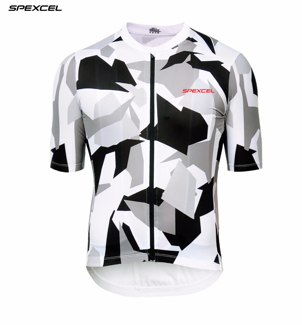 SPEXCEL Original Design camouflage Pro Team Cycling Jersey Short Sleeve Race cycling gear road bike shirt Top quality finish