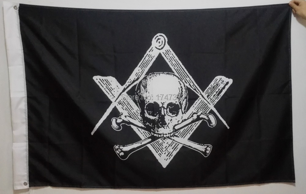Masonic Flag hot sell goods 3X5FT 150X90CM Banner brass metal holes