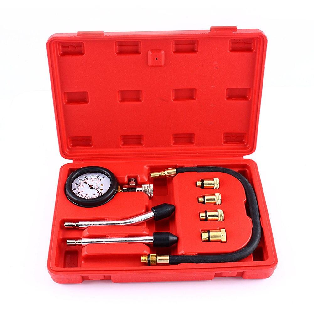 Automotive Motorcycles Petrol Engine Compression Test Gauge Tester Kit Tool Set