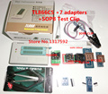 Inglés V6.5 MiniPro TL866CS Prgrammer USB Programador Universal 7 UNIDS ADAPTADORES + SOP8 CLIP de PRUEBA