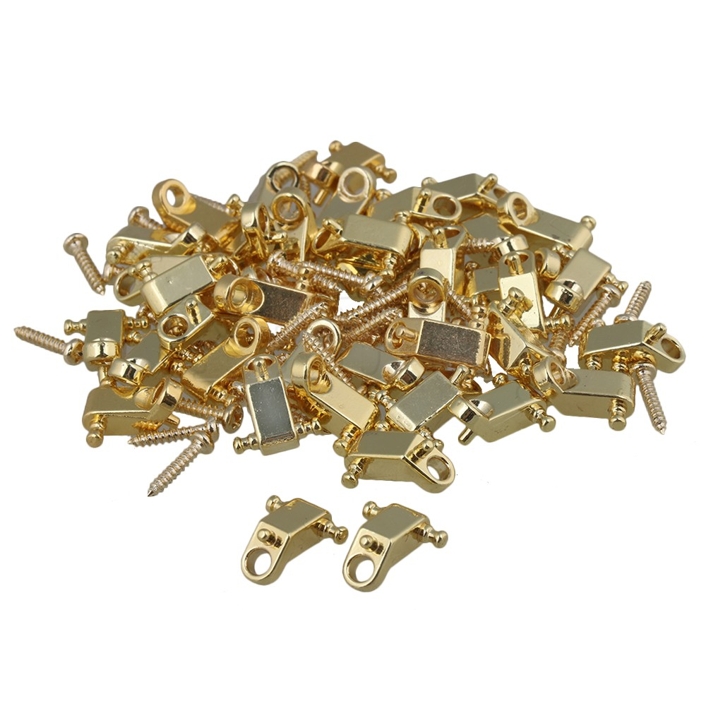 Yibuy Golden Copper Roller String Trees / String Retainers with Screws for Electric Guitar Pack of 40 coloring of trees