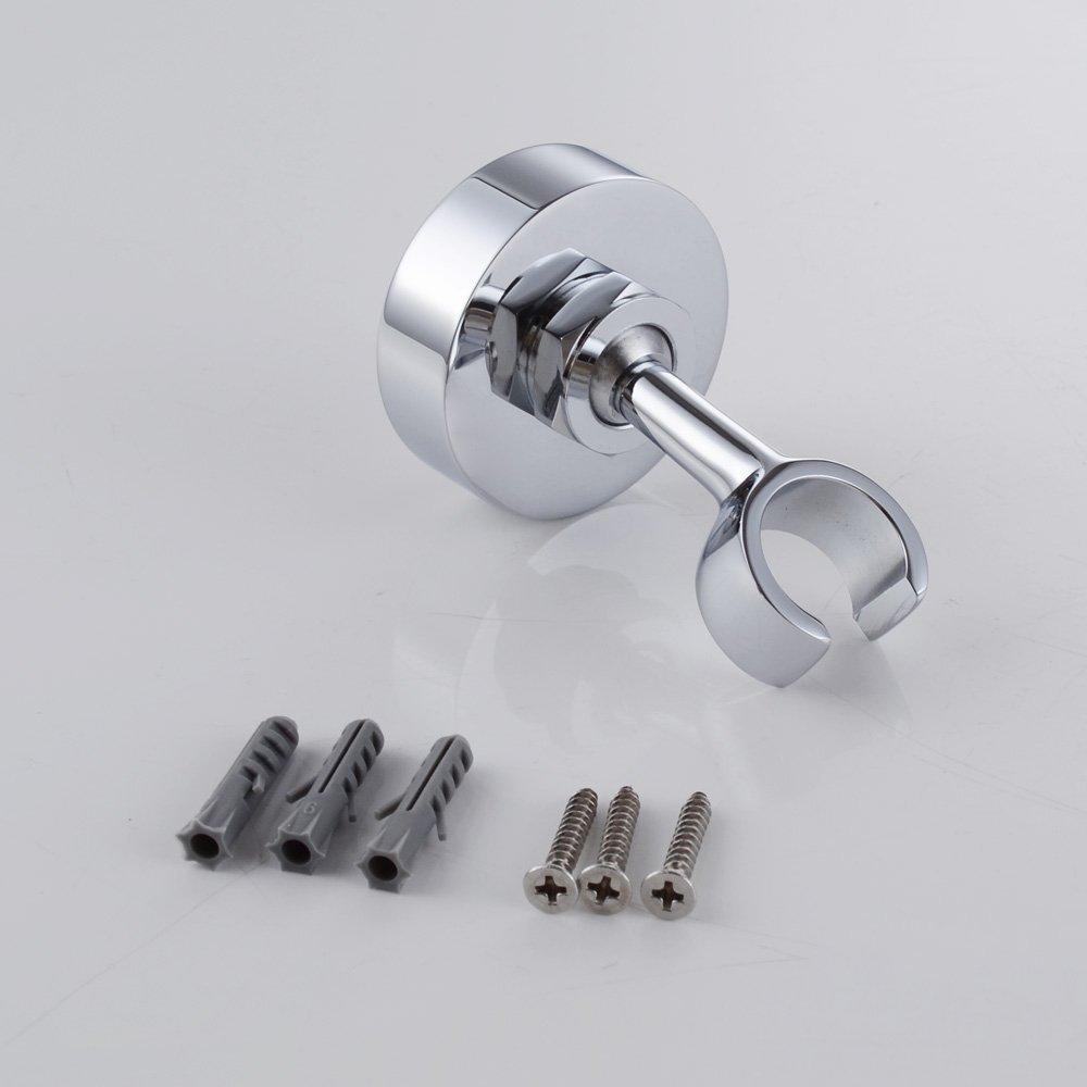 Polished Chrome Solid Brass Shower Head Bracket Holder Stepless Adjustable Wall Mount,Shower accessories S4432 - 4
