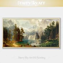 Художественная ручная роспись высокого качества специальный пейзаж парк Йеллоустоун картина маслом на холсте Америка Йеллоустоун парк картина маслом