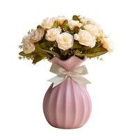 צבע Macarons האירופי סגנון אופנה עבודת יד חתונת אגרטל קרמיקה מלאכות אביזרי שולחן אגרטלי פרחים הידרופוני עציץ