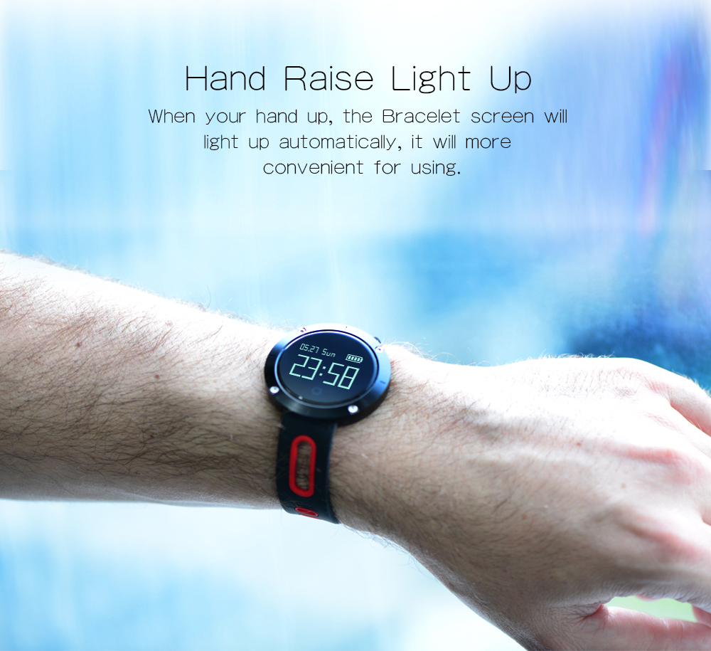 MAKIBES DM58 BLUETOOTH SPORTS HEART RATE SMART BAND WITH BLOOD PRESSURE MONITOR IP68 WATERPROOF WRISTBAND 237054 46