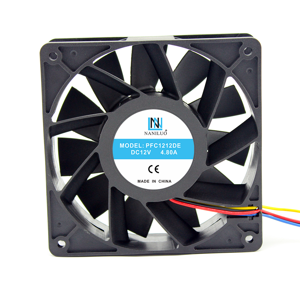 NANILUO PFC1212DE 120*120*38mm 12038 1238 12 cm DC 12 V 4.80A servidor inversor ventilador de refrigeración para BTC BCH SBTC UBTC minero ventilador