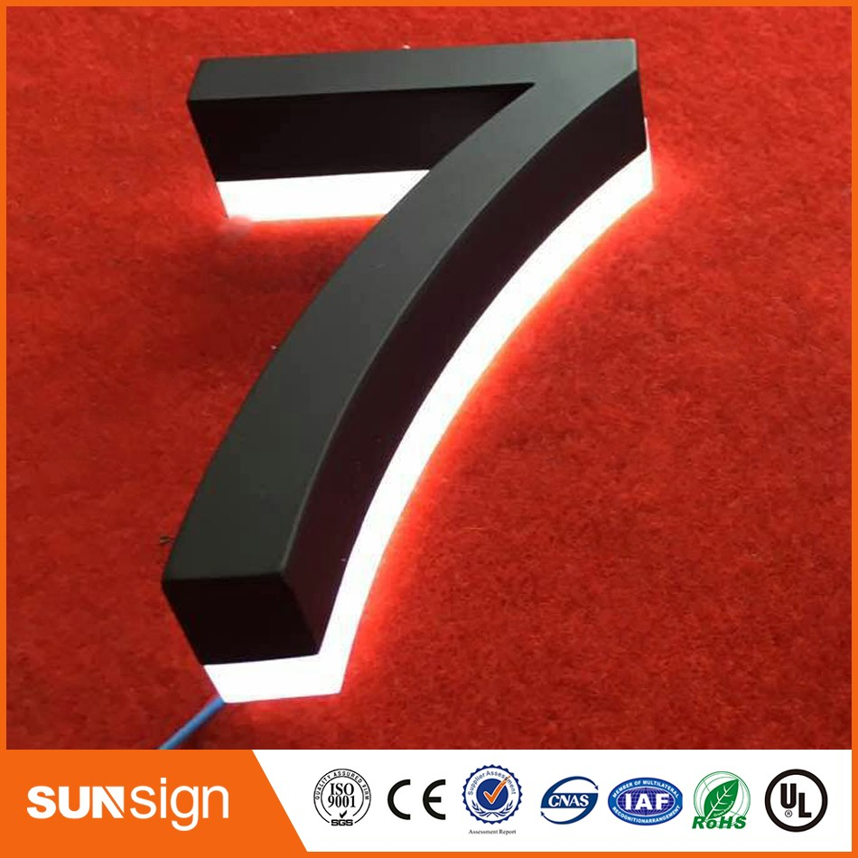 Modern LED House Number 7 & Apartment LED Numbers And Company Name Size H150MM(Custom) Number 7
