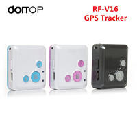 DOITOP Mini RF V16 Anti Lost Rastreador Veicular Monitor Position GSM GPS Location Tracker SOS Real Time For Car Child Kids Pet